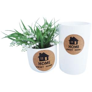 "Concrete ""Home Sweet Home"" Planter - White 12cm 3"