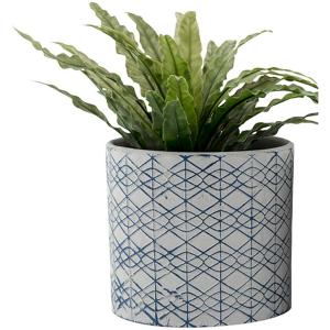 Blue Geometric PatternTerracottaPot Planters - Setof 3 8