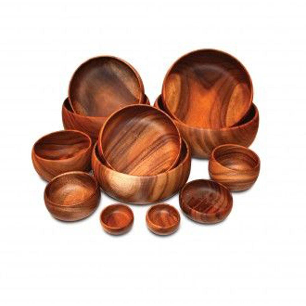 Acacia Calabash Wooden Bowls 3