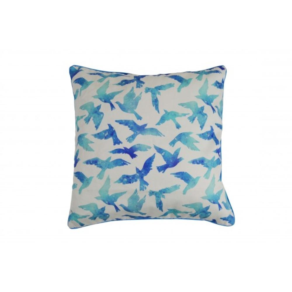 Blue Birds Cotton Cushion Cover with Insert 45cm x 45cm 1