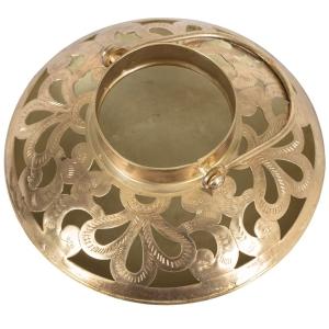 Antique Gold Handcrafted Bowl Shape Candle Holder Lantern 6