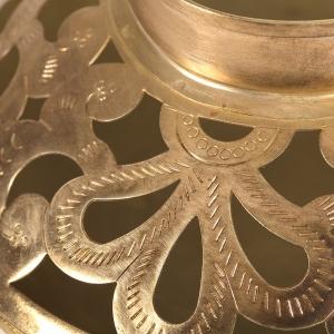 Antique Gold Handcrafted Bowl Shape Candle Holder Lantern 7