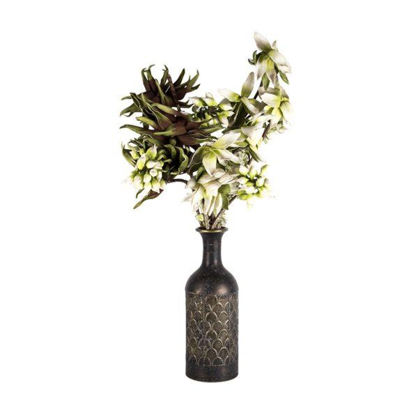 Gold Wash Metal Elemental Vase 45cm 2