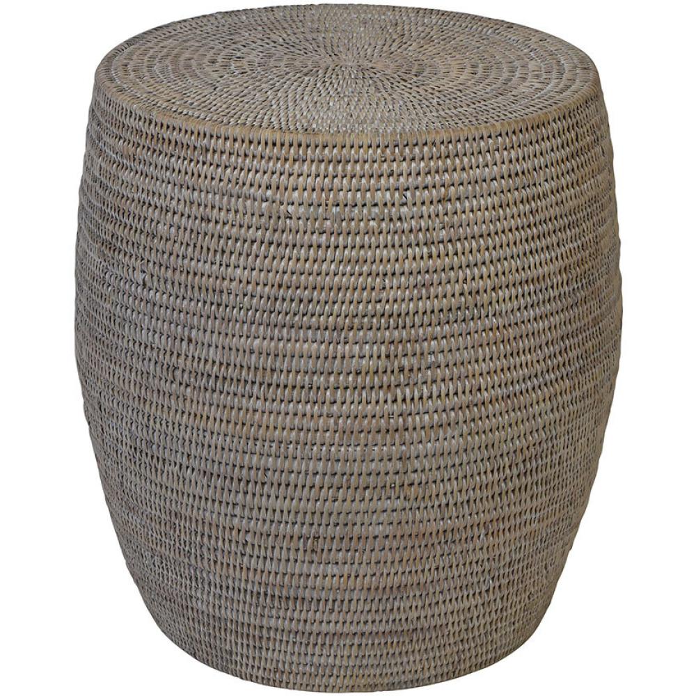 Verandah Rattan Drum Pattern Side Table 1