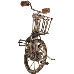 Antique Gold Vintage Metal Bicycle With Basket 32cm 7