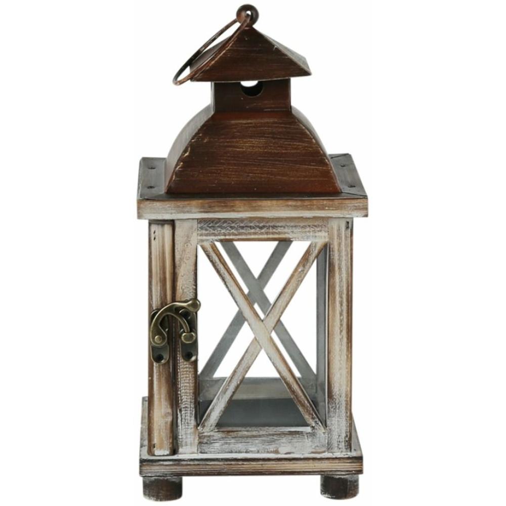 Whitewash Timber & Metal Lantern 30cm 1