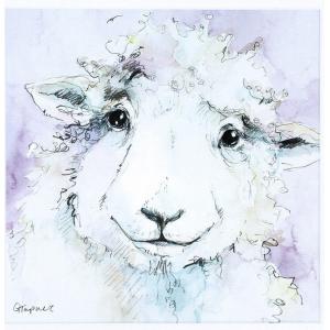 Dolly Sheep Framed Print Wall Art 30cm Square 4