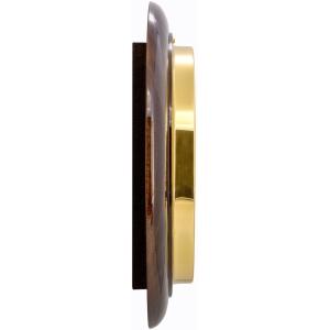 Round 28cm Roman Numerals Railway Wooden Wall Clock - Glossy Walnut 5