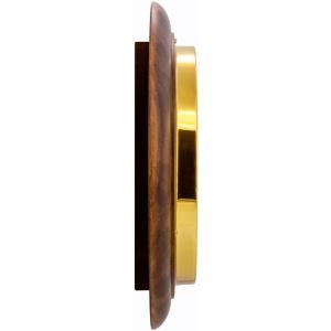 Round 28cm Arabic Numerals Railway Wooden Wall Clock - Satin Antique 5
