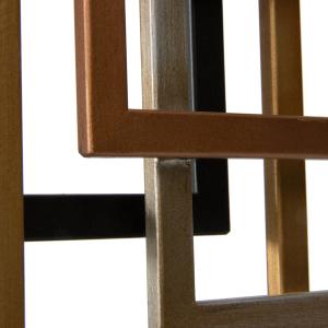 Multicolour Geometric Shape Metal Centerpiece Decor 46cm 5
