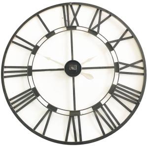 Large Round 80cm Black & Golden Metal Wall Clock 5