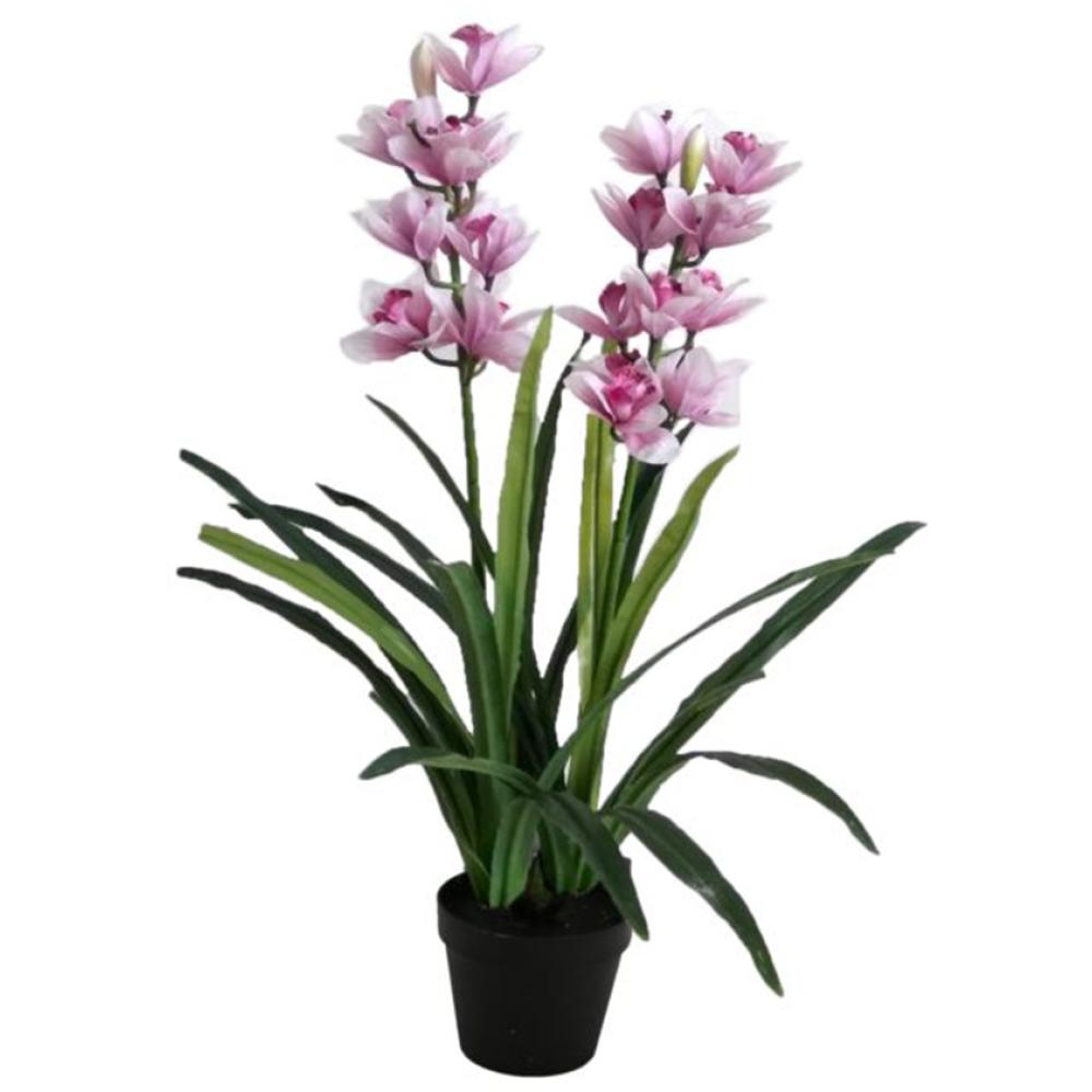 Artificial Pink Cymbidium Orchid Plant In Pot 100cm 1
