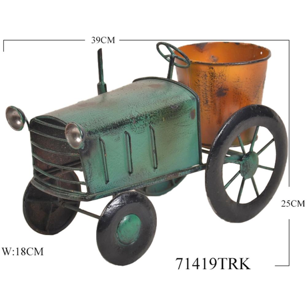 Rustic Colourful Farm Truck Metal Pot Planter 4