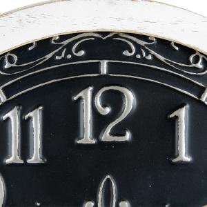 Round 56cm Ornate Wood & Metal Wall Clock 6