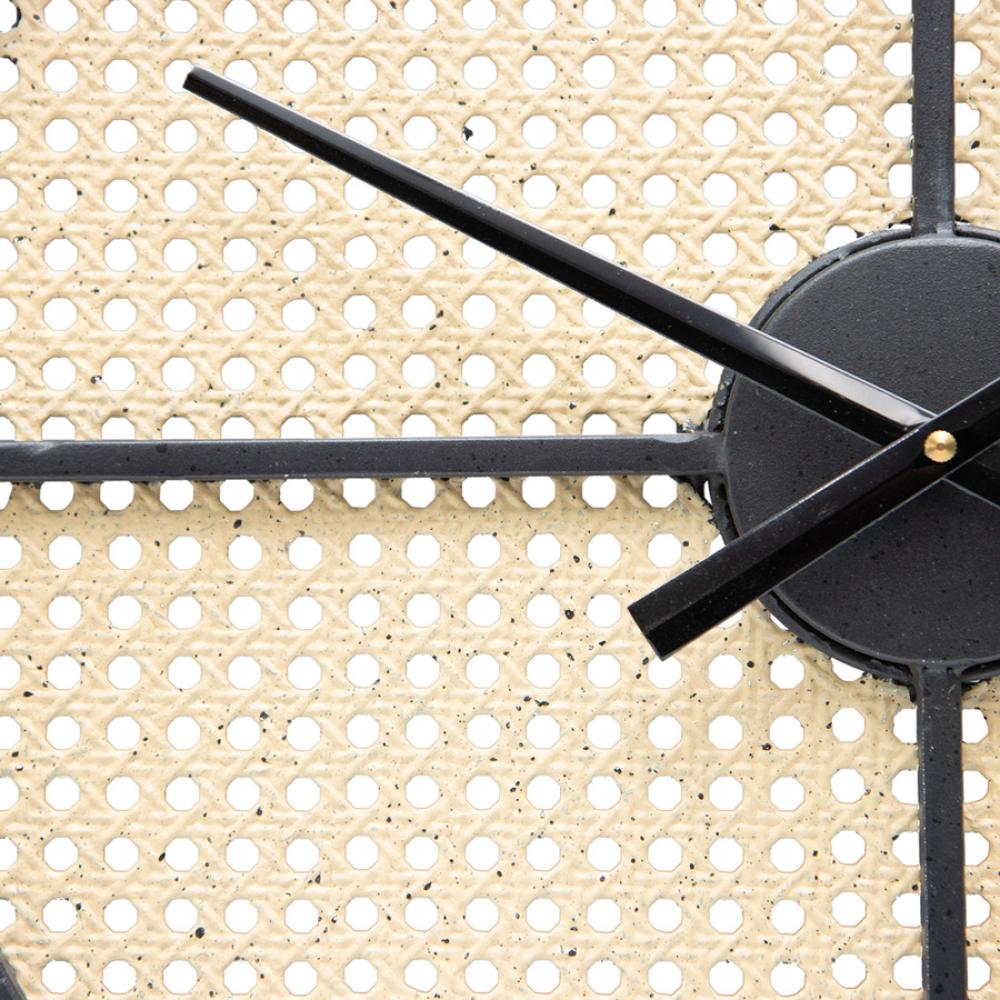 Large Round 70cm Mesh Pattern Metal Wall Clock 3