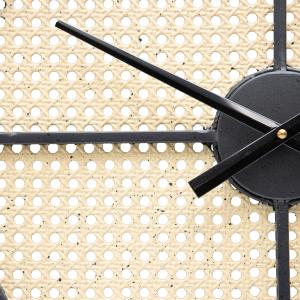 Large Round 70cm Mesh Pattern Metal Wall Clock 6