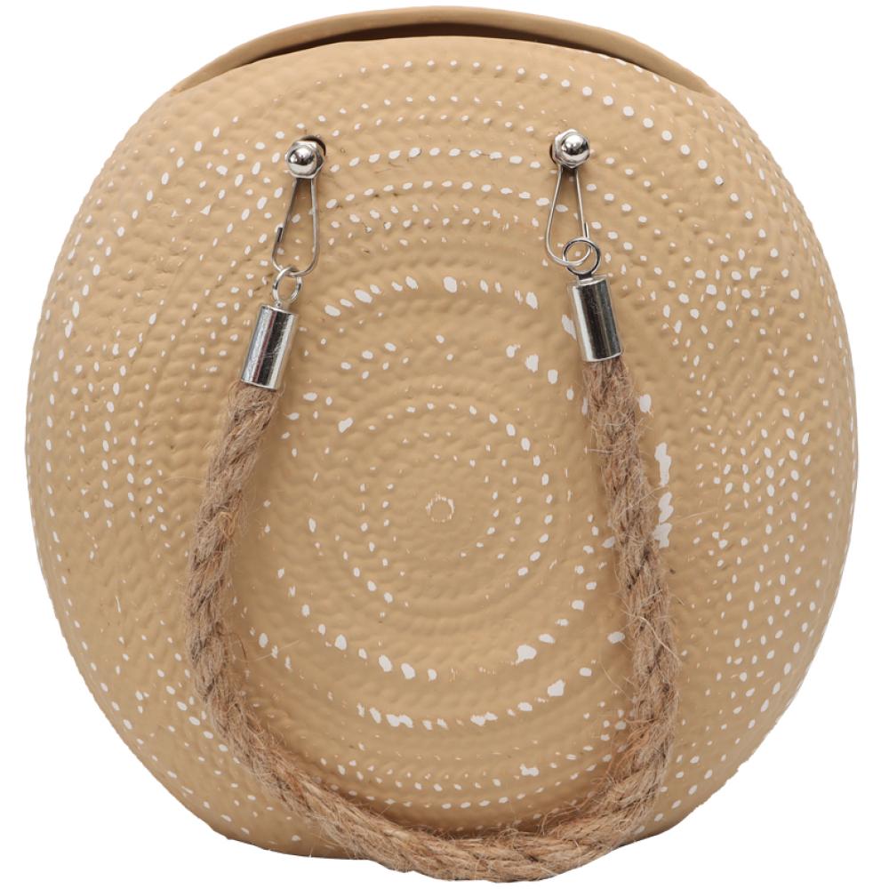 Textured Handbag Ceramic Pot Planter With Rope 2