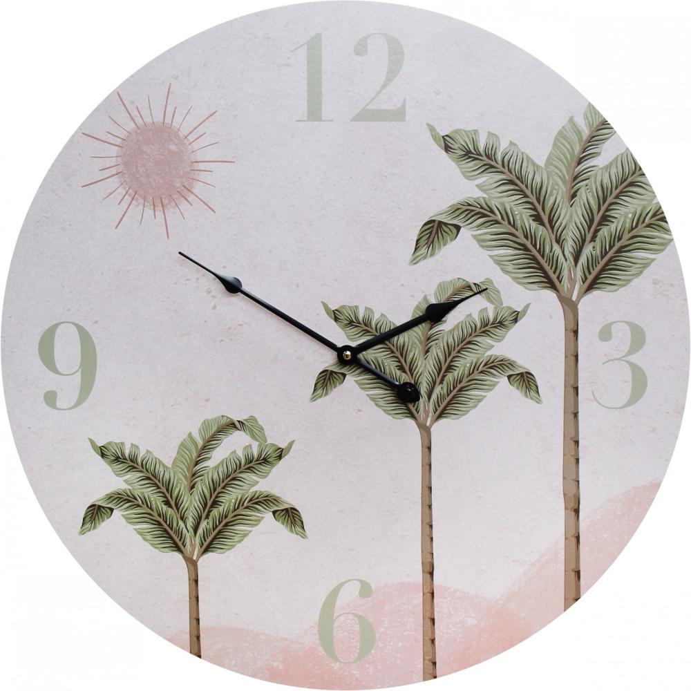 Large Round 58cm Desert Palm Wall Clock 1