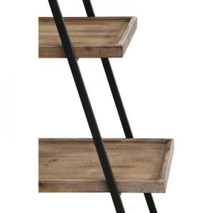 """A Frame"" 4 Shelf Metal & Wood Display Unit - Dark 4"