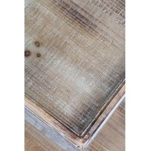 """A Frame"" 4 Shelf Metal & Wood Display Unit - White 6"