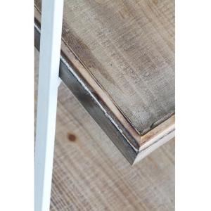 """A Frame"" 4 Shelf Metal & Wood Display Unit - White 7"