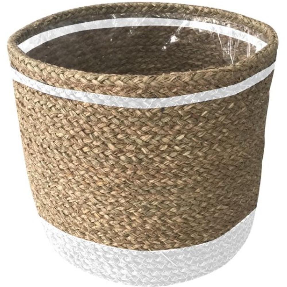 Millie White & Natural Plant Basket 1