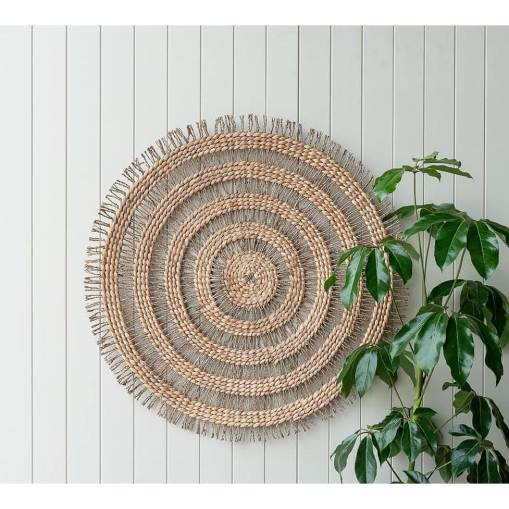 Norman Circles Seagrass Wall Decor 100cm 2