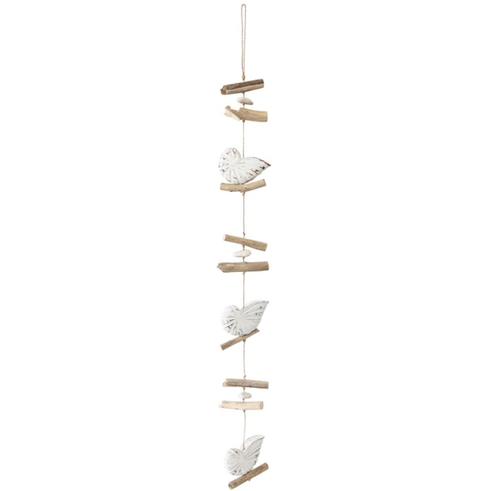 Driftwood String Of Shells Hanging Decor 1